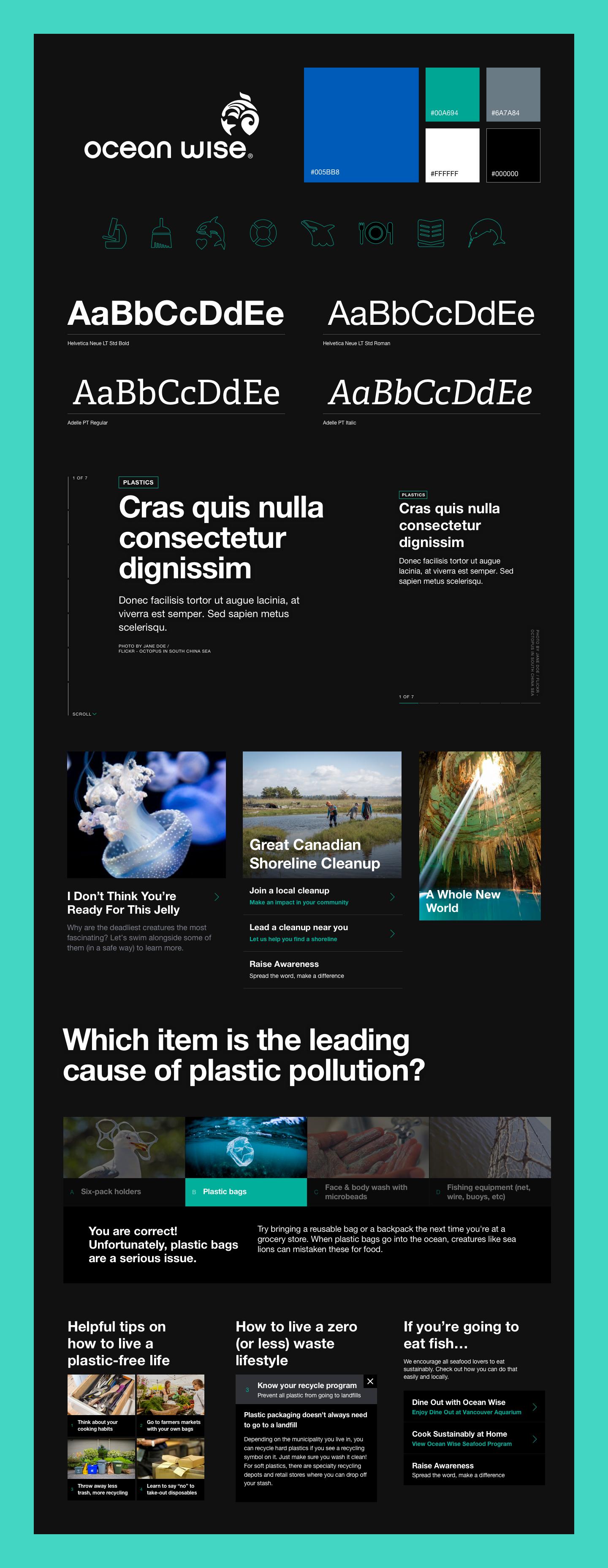 Some design elements for Ocean.org